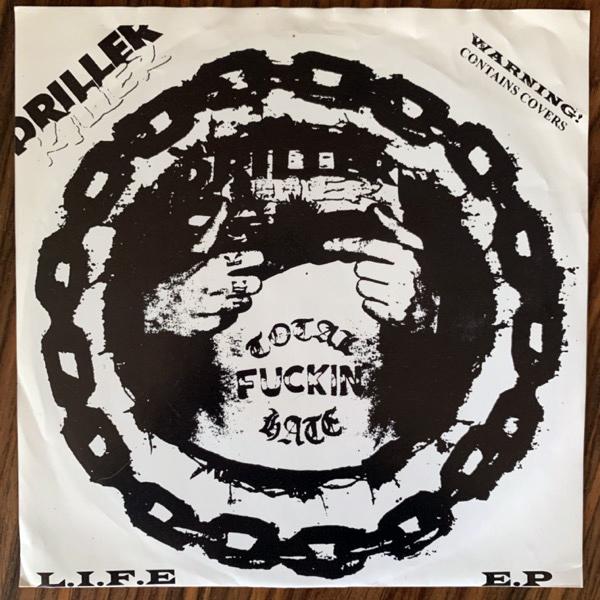 "DRILLER KILLER L.I.F.E E.P (Distortion - Sweden original) (VG/VG+) 7"""