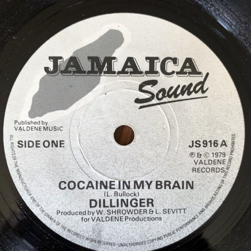 DILLINGER Cocaine In My Brain (Jamaica Sound - UK original) (VG+) 7""