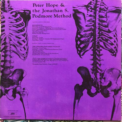 "PETER HOPE & THE JONATHAN S. PODMORE METHOD Kitchenette (Native - UK original) (EX) 12"""