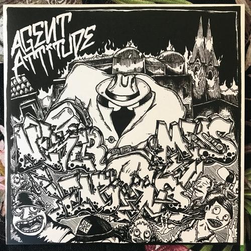 """AGENT ATTITUDE Never-Ending Mess (Blue vinyl) (De:Nihil - Sweden original) (NM/EX) 7"""""""