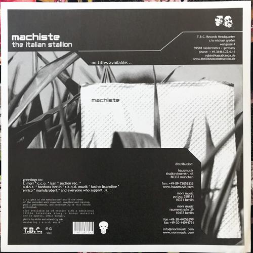 MACHISTE The Italian Stallion (Thrill Beat Construction - Germany original) (EX) LP