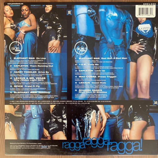VARIOUS Ragga Ragga Ragga! 16 (Greensleeves - UK original) (VG+) LP