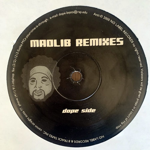 MADLIB Madlib Remixes (No label - USA original) (EX/VG) LP
