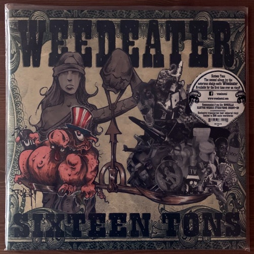 WEEDEATER Sixteen Tons (Beer vinyl) (Season of Mist - France reissue) (EX/NM) LP