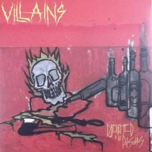 VILLAINS Drenched In The Poisons (Die hard version. Yellow vinyl) (Nuclear War Now! - USA original) (NM) LP