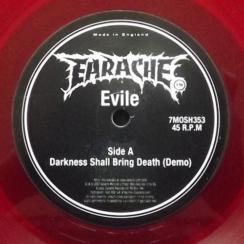 "EVILE Darkness Shall Bring Death (Red vinyl) (Earache - UK original) (EX) 7"""