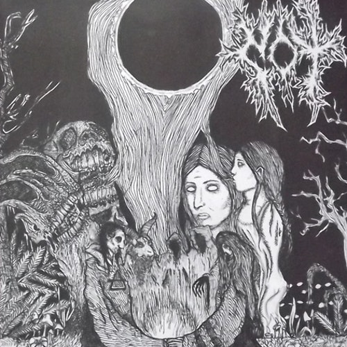"""COMMUNION OF THIEVES / DENDRITIC ARBOR Split (White vinyl) (At War With False Noise / Unholy Anarchy - UK/USA original) (NEW) 7"""""""