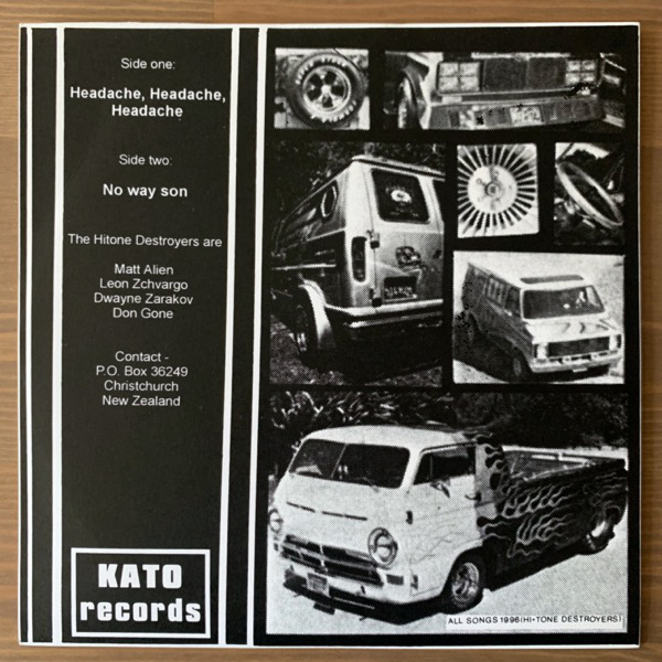 "HITONE DESTROYERS, the Headache, Headache, Headache (Kato - New Zealand original) (EX) 7"""