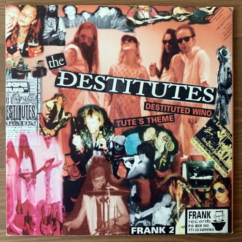 DESTITUTES, the / THE LET'S GO'S Split (Orange vinyl) (Frank - Sweden original) (VG+) 7""