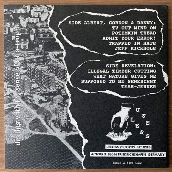 "HARTSOEKER Dealing With The Sense Of Catastrophe (Useless - Germany original) (NM/EX) 7"""
