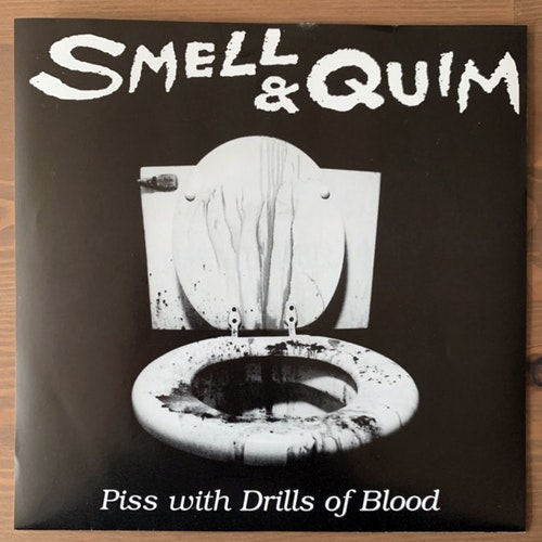 SMELL & QUIM Piss With Drills Of Blood (Yellow vinyl) (Self Abuse - USA original) (EX/NM) 7""
