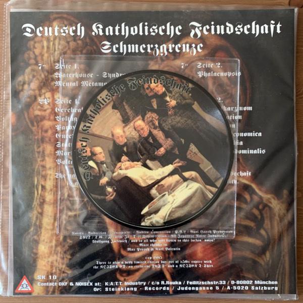 """DEUTSCH KATHOLISCHE FEINDSCHAFT Schmerzgrenze (Steinklang Industries - Austria original) (VG+) LP+PIC 7"""""""