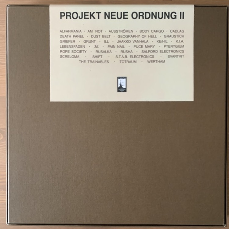 VARIOUS Projekt Neue Ordnung II (Tesco - Germany original) (SS) 4LP BOX