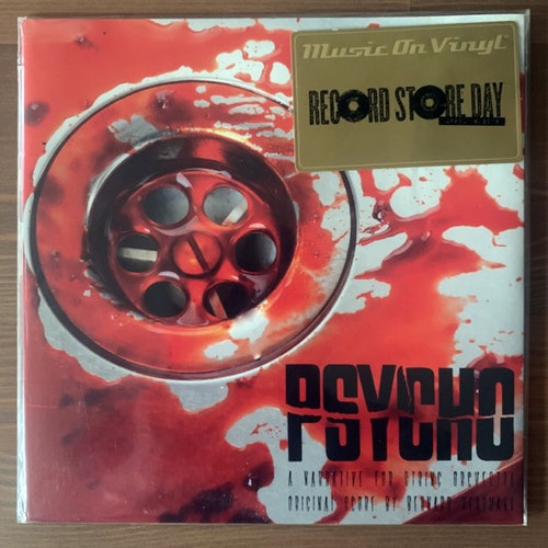 "SOUNDTRACK Bernard Herrmann – Psycho (A Narrative For String Orchestra) (Red vinyl) (Music On Vinyl - Europe original) (EX) 7"""