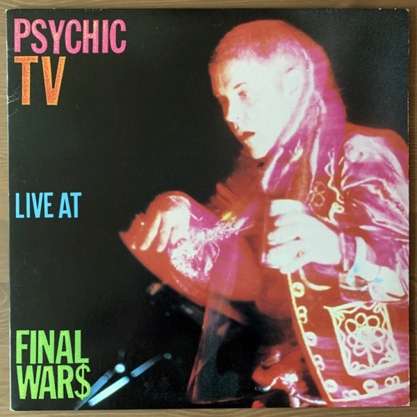 PSYCHIC TV Live At Final Wars (Transrecords - Japan original) (VG+/NM) LP