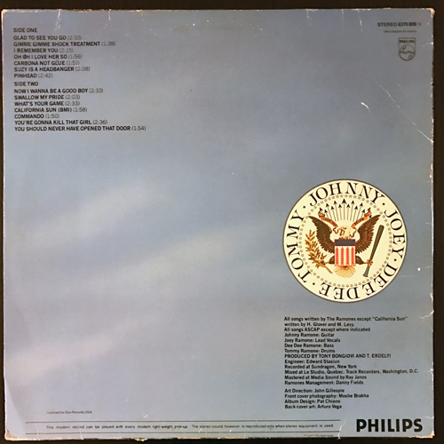 RAMONES Leave Home (Philips - Holland original) (VG) LP