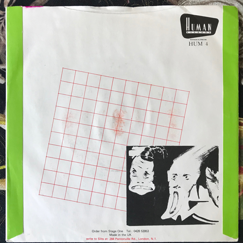 "SLITS, the Animal Space (Human - UK original) (VG+) 7"""