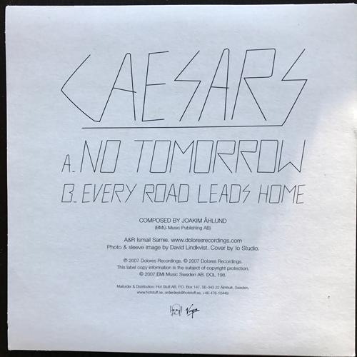 "CAESARS No Tomorrow (Dolores - Sweden original) (EX) 7"""