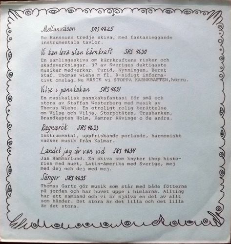 "VARIOUS Silence Sampler (Promo) (Silence - Sweden original) (EX/VG+) 7"""