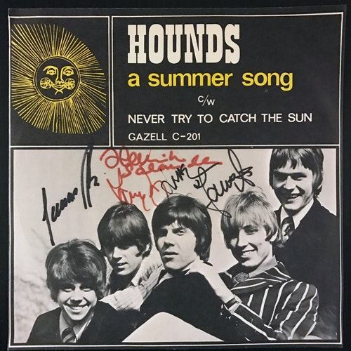 HOUNDS A Summer Song (Signed) (Gazell - Sweden original) (VG+/VG) 7""