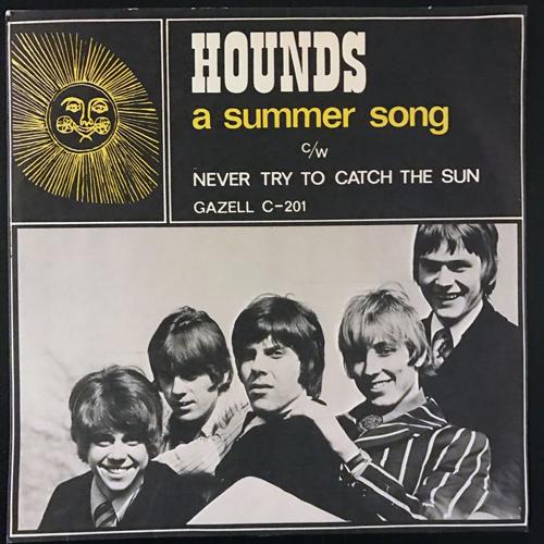 """HOUNDS A Summer Song (Signed) (Gazell - Sweden original) (VG+/VG) 7"""""""