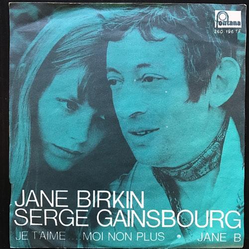 "JANE BIRKIN, SERGE GAINSBOURG Je T'aime... Moi Non Plus (Fontana - Sweden original) (VG+/VG) 7"""