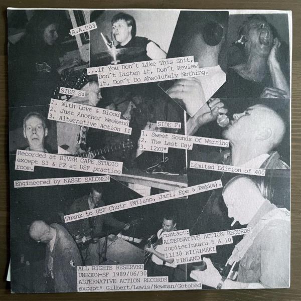 """UNBORN-SF Pure Fuck U Attitude Since 1977 E.P. (Alternative Action - Finland original) (EX/VG+) 7"""""""
