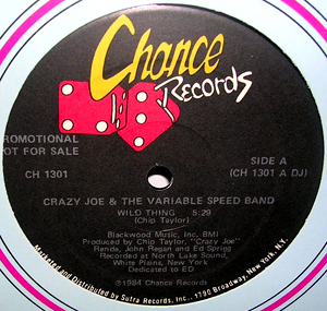 """CRAZY JOE AND THE VARIABLE SPEED BAND Wild Thing (Promo) (Chance - USA original) (EX) 12"""""""