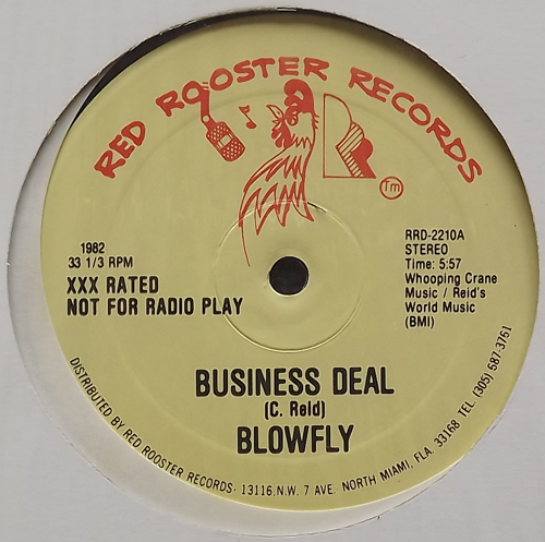 """BLOWFLY Business Deal (Red Rooster - USA original) (EX) 12"""""""