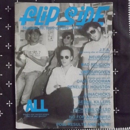 FLIPSIDE #59 1989 (USA original) (VG+) MAGAZINE