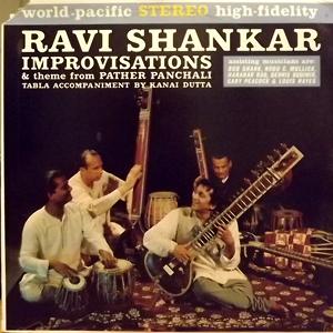 RAVI SHANKAR Improvisations And Theme From Pather Panchali (World Pacific - USA original) (VG+/EX) LP