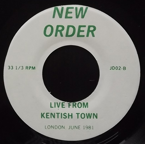 """NEW ORDER Live From Kentish Town (No label - USA unofficial repress) (VG+) 7"""""""