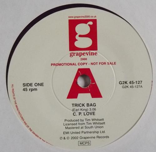 """C.P. LOVE Trick Bag (Promo) (Grapevine 2000 - UK reissue) (EX) 7"""""""