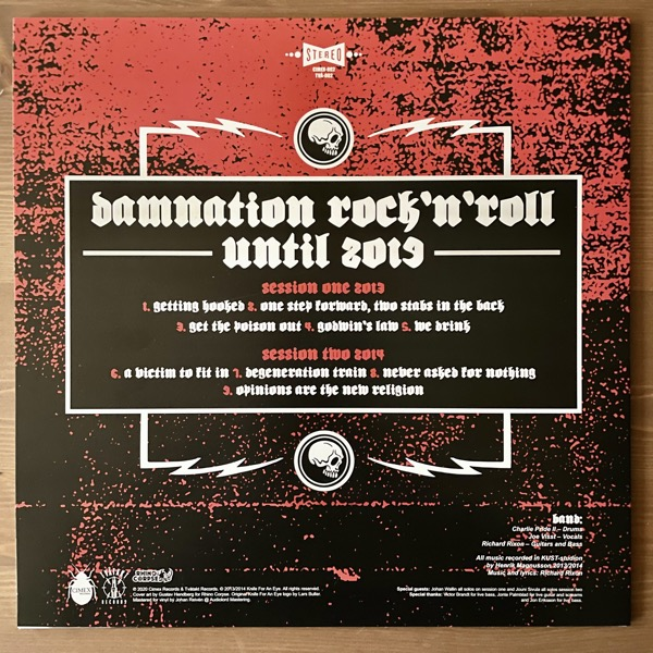 KNIFE FOR AN EYE Damnation Rock´n´Roll (Clear vinyl) (Tvåtakt - Sweden 2nd press) (NM) LP