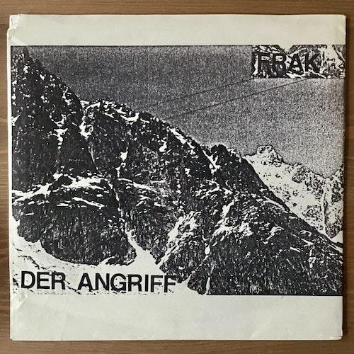 """FRAK / DER ANGRIFF Split (Red vinyl) (Börft - Sweden original) (VG+) 7"""""""