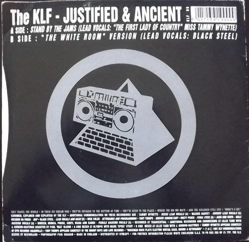 "KLF, the Justified & Ancient (KLF Communications - UK original) (VG/VG+) 7"""