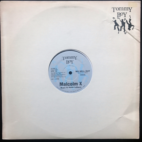 """MALCOLM X No Sell Out (Tommy Boy - USA original) (VG) 12"""""""