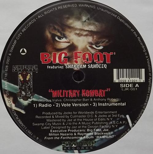"BIG FOOT Military Kombat (Lumberjack - USA original) (VG+) 12"""