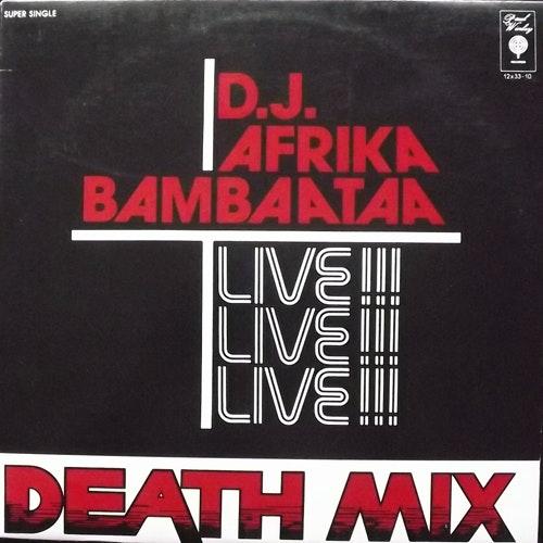 """D.J. AFRIKA BAMBAATAA Live!!! Death Mix (USA reissue) (VG) 12"""""""