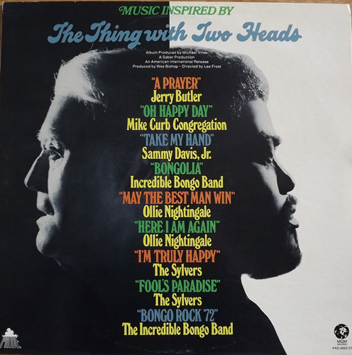 VARIOUS The Thing With Two Heads (Music Inspired By) (Pride - USA original) (VG+/EX) LP