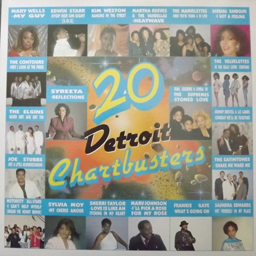 VARIOUS 20 Detroit Chartbusters (Motorcity - UK original) (EX) LP