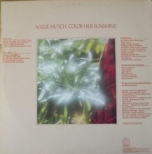 WILLIE HUTCH Color Her Sunshine (Motown - USA original) (VG+) LP