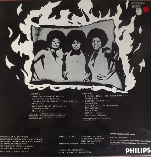 LOVE UNLIMITED In Heat (Philips - Germany original) (VG+/EX) LP