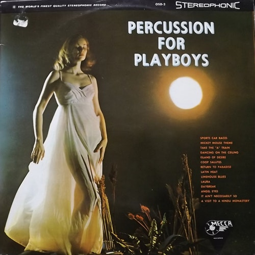 VARIOUS Percussion For Playboys (Mecca - UK original) (VG) LP