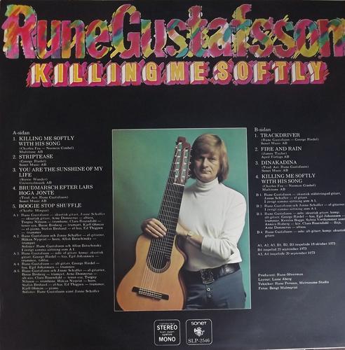 RUNE GUSTAFSSON Killing Me Softly (Sonet - Sweden original) (VG+/EX) LP