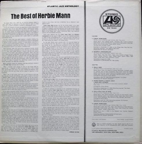 HERBIE MANN The Best Of Herbie Mann (Atlantic - USA original) (VG+/EX) LP