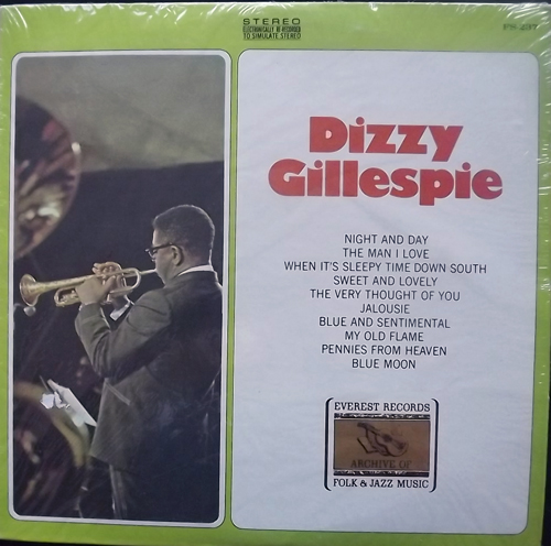 DIZZY GILLESPIE Dizzy Gillespie Archive Of Folk & Jazz Music - USA original) (NM/VG+) LP