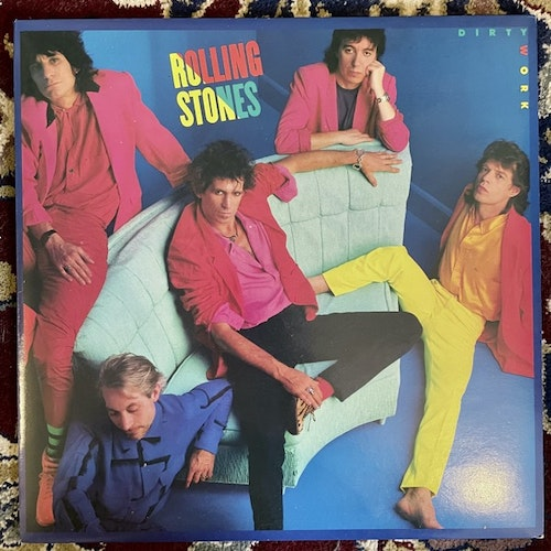 ROLLING STONES Dirty Work (Rolling Stones - Europe original) (EX) LP