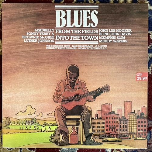 VARIOUS Blues - From The Fields Into The Town (Happy Bird - Germany original) (VG+) LP