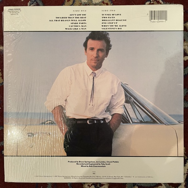 BRUCE SPRINGSTEEN Tunnel Of Love (Columbia - USA original) (EX/VG+) LP